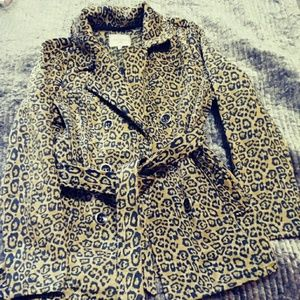 Free Spirit Double Breasted Leopard jacket
